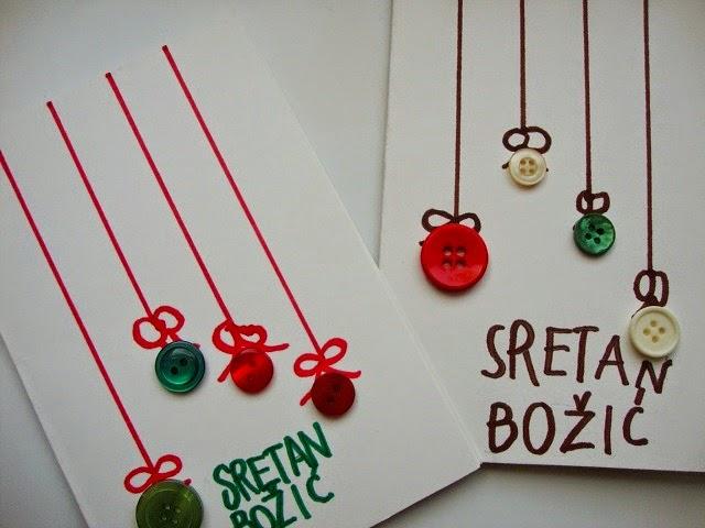dječje čestitke za božić Maje Zmaje: DIY: Dječje božićne čestitke dječje čestitke za božić