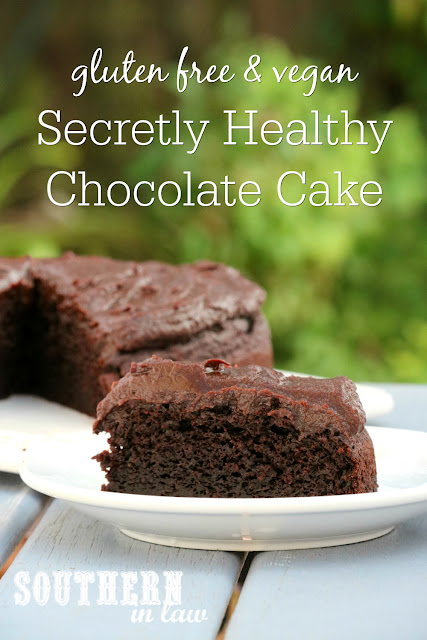 Secretly Healthy Chocolate Cake Recipe - gluten free, vegan, refined sugar free, dairy free, nut free, soy free, egg free, clean eating recipe