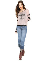 Moda Queens Suéter Queens Tricot Power Rosa