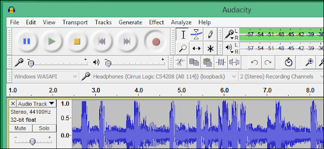 registrazione audio PC Audacity WASAPI Loopback