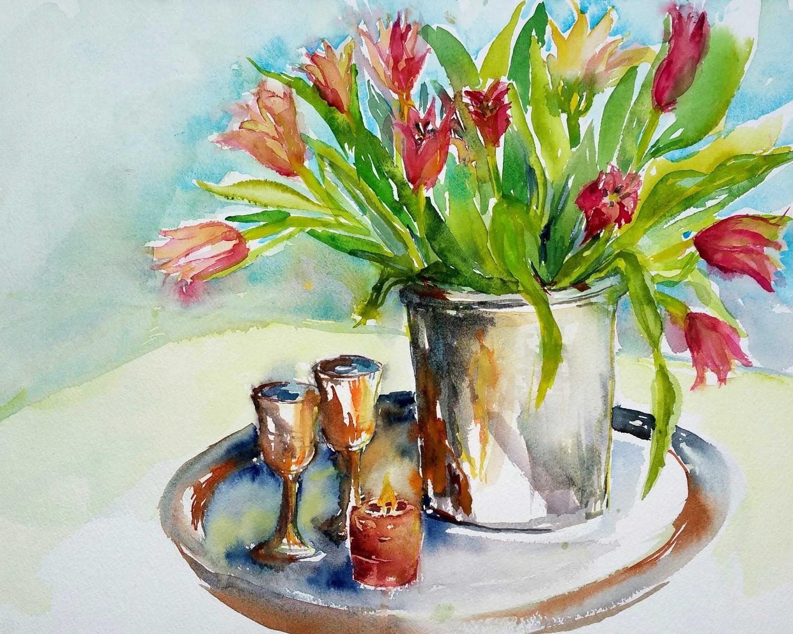 Bettina Malt Tulpen Bei 12 C