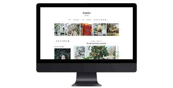 """Download Free Esmée Responsive Creative Blogger Template 1.0 – etsy.com 