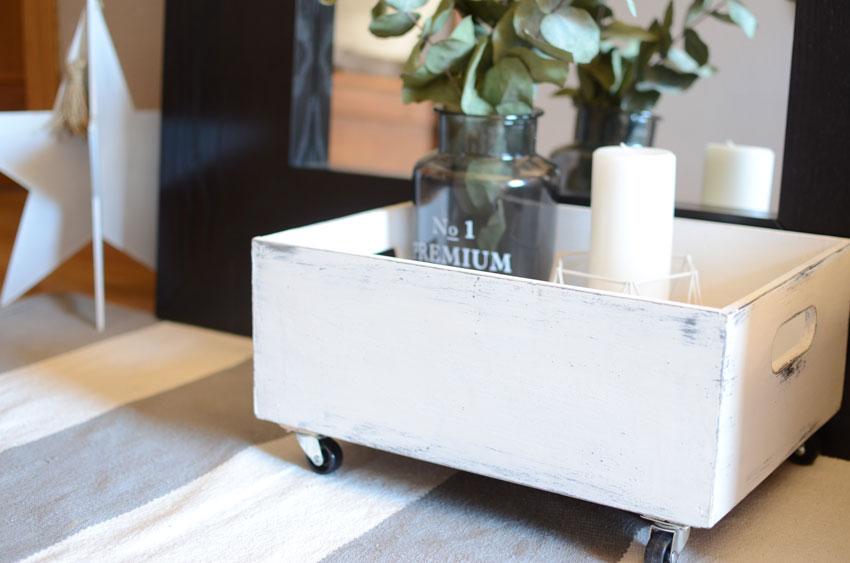 Diy caja madera decorada con papel pintado blog de decoraci n diy ideas low cost para - Decorar cajas de madera con papel ...