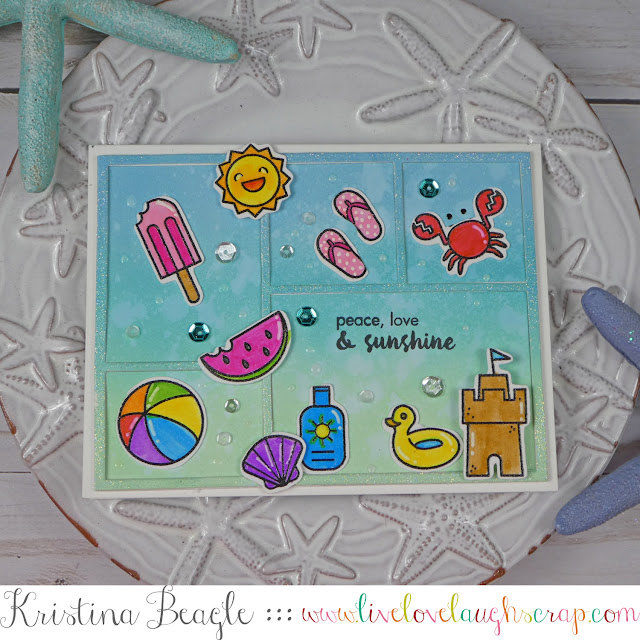 Hero Arts Beach Stamp Set | Handmade Card by Live Love Laugh Scrap
