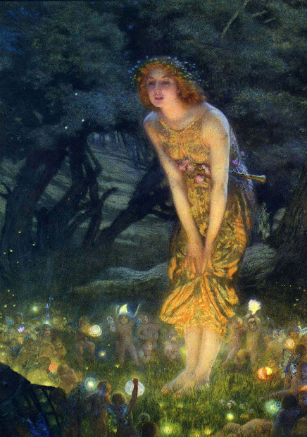 Wallpapers Art Edward Robert Hughes Paintings Midsummer Eve Painting