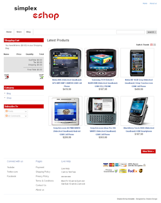 Simplex eShop - Blogger eCommerce Template