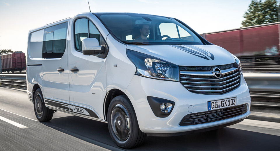 Nissan Cargo Van >> Opel Vivaro Sport Gives Big Van A More Aggressive Look