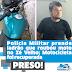 Policia Militar prende ladrão que roubou moto no Zé Velho; Motocicleta foi recuperada