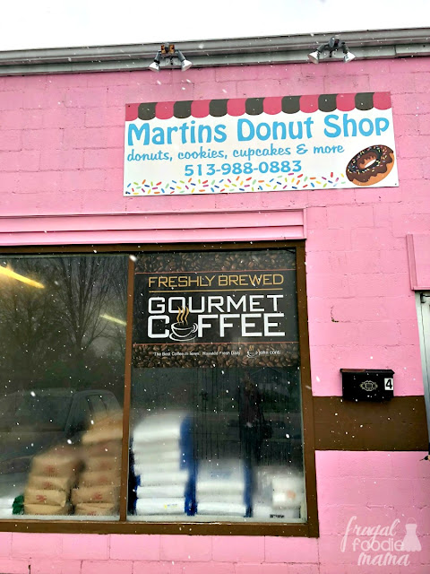 An old service station turned donut shop & bakery, Martin's Donuts is easy to spot with its bright pink storefront. Martin's is also an early opener on the Butler County Donut Trail with a start time of 4:00am.