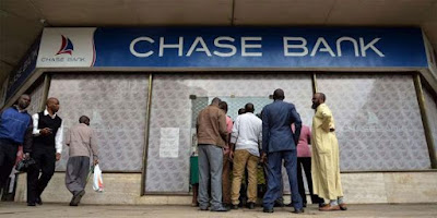 Chase Bank. PHOTO| FILE