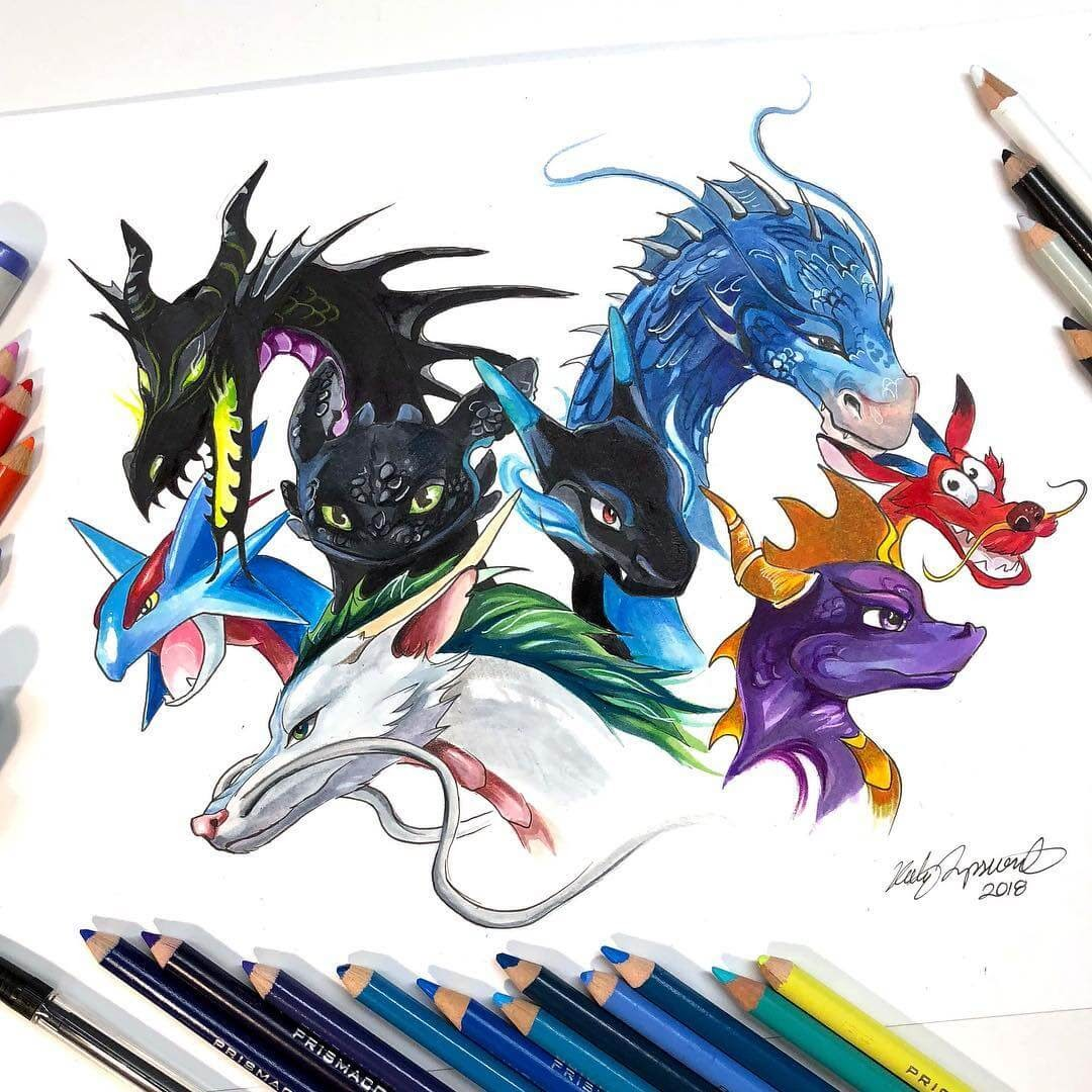 01-Dragons-K-Lipscomb-Fantasy-and-Real-Life-Animal-Drawings-www-designstack-co