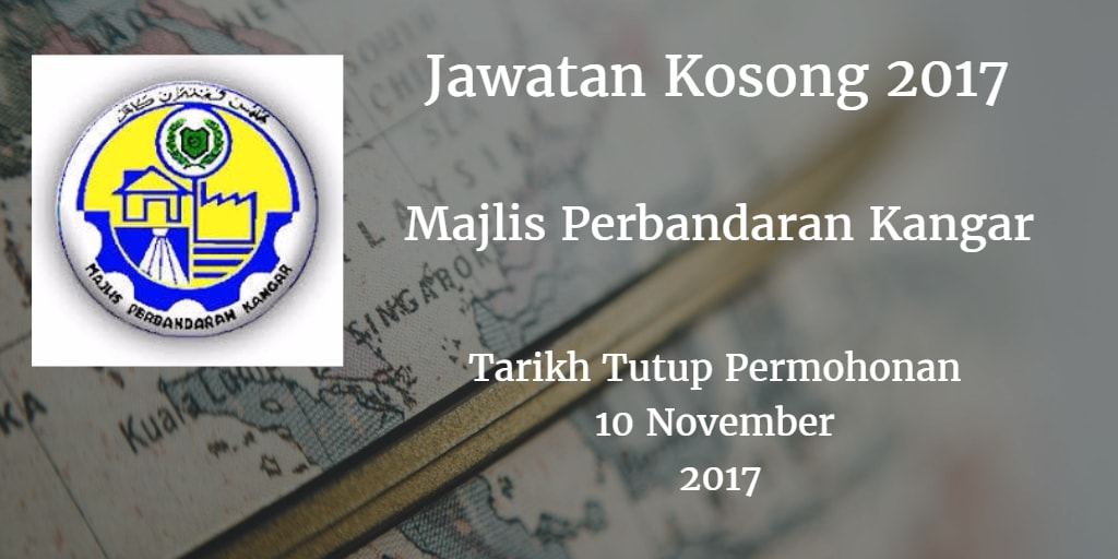 Jawatan Kosong MPKangar 10 November 2017