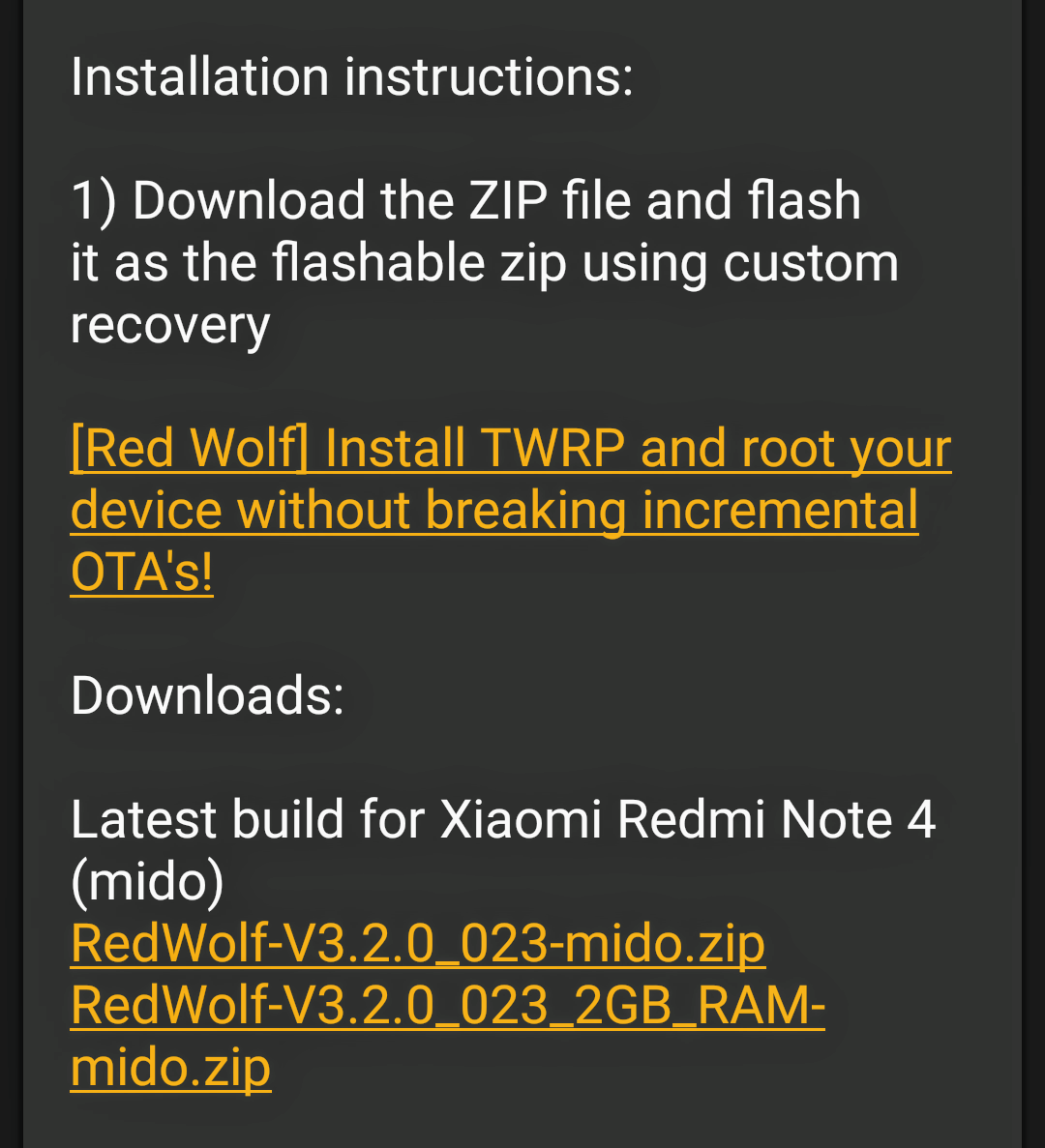Mi Red Wolf Recovery Version 3 2 0 Build 023