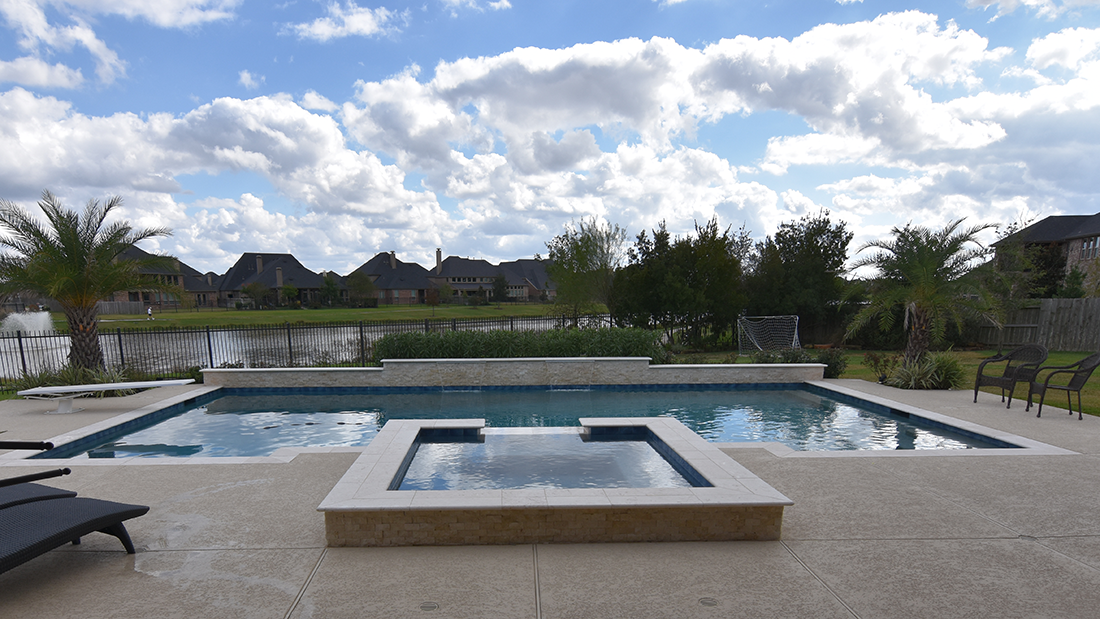 Custom Geometic Inground Pool Builder DFW  6