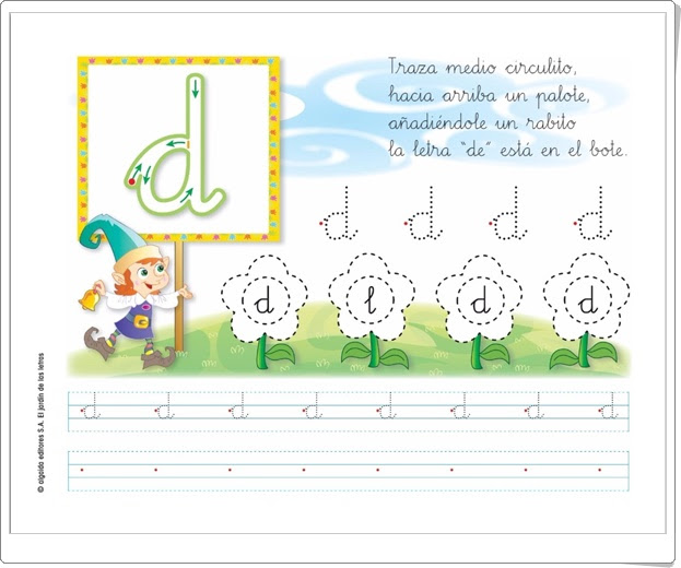 Recursos educativos de educaci n infantil letra d el for El jardin de las letras