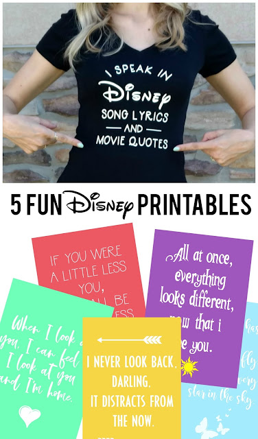 I love these Disney quotes and even better that they are FREE printables!