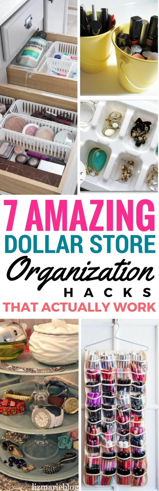 dollar store organizing ideas, dollar store organization, dollar store diy projects, dollar store hacks, diy dollar store home decor ideas