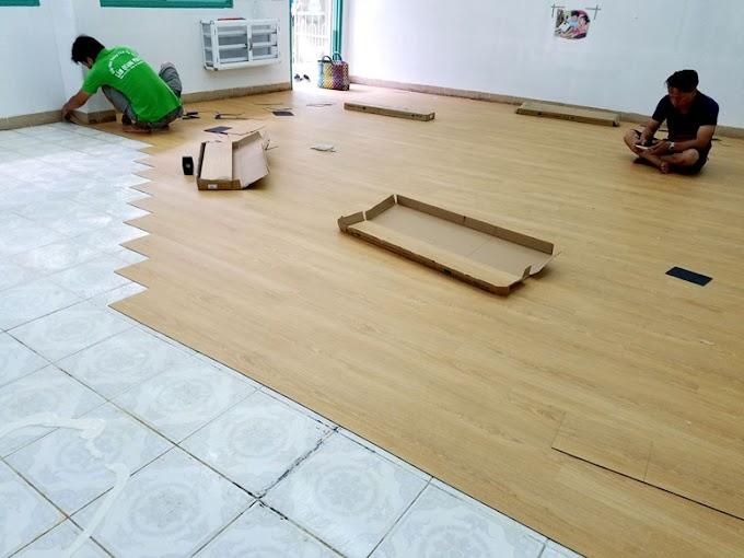 Giá thi công lắp đặt sàn nhựa khoá hèm giả gỗ trọn gói theo m2 mới nhất 2021 hoàn thiện Tại hà nội