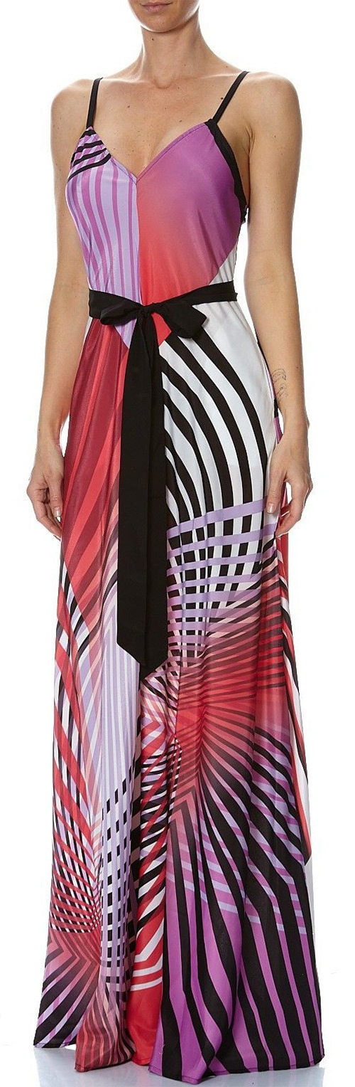 Robe longue graphique multicolore Marciano Guess