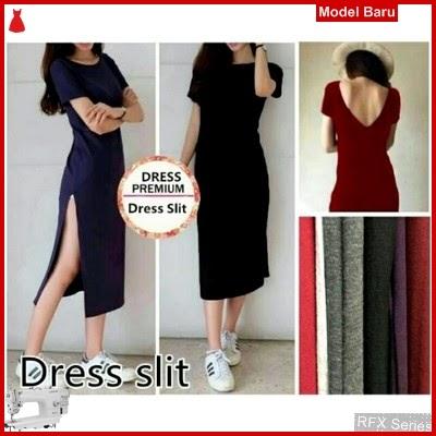 RFX027 MODEL DRESS SLIT L GOOD BAHAN SPANDEK HALUS MURAH ONLINE