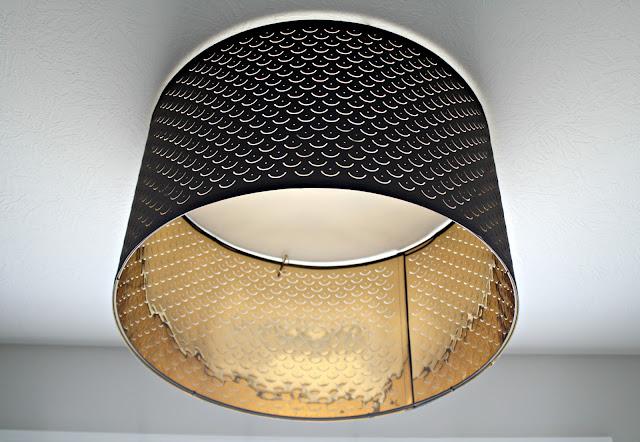 Convert drum shade into flush mount fixture