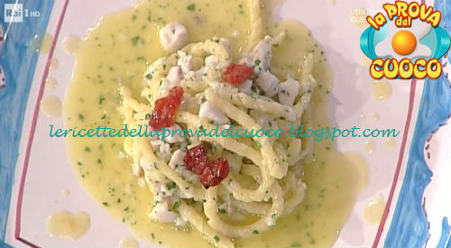 Fusilli con ragù di cernia e salsa al limone ricetta Improta da Prova del Cuoco