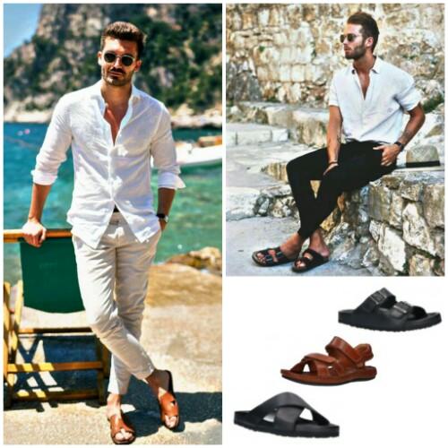 Sandalias masculinas en tendencia