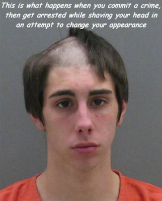 dumb criminal funny arrest picture