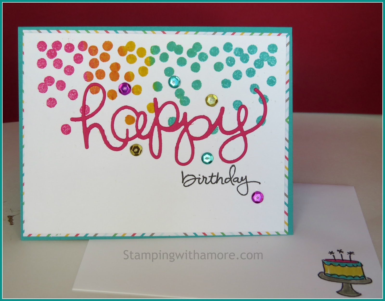 Stampingwithamore Happy Birthday Card