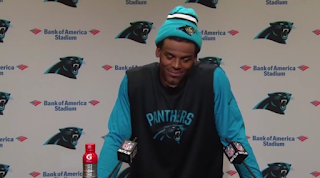 Cam Newton laughs at female reporter's question