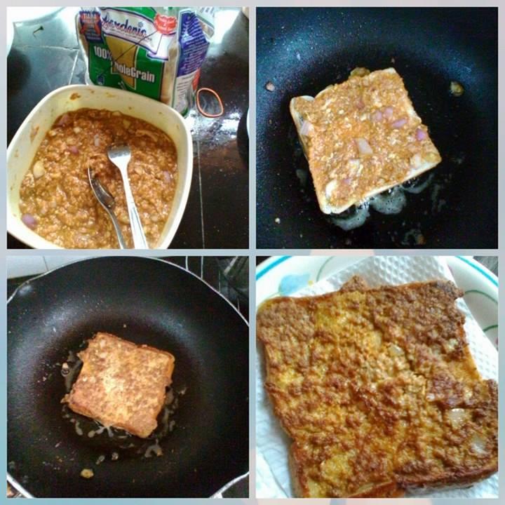 resepi berasaskan roti, resepi murtabak daging cepat dan simple,  resepi murtabak menggunakan roti gardenia