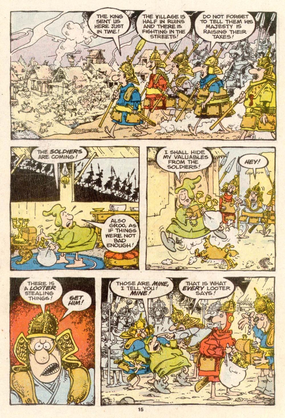 Read online Sergio Aragonés Groo the Wanderer comic -  Issue #37 - 15