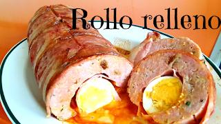 receta rollo de carne relleno