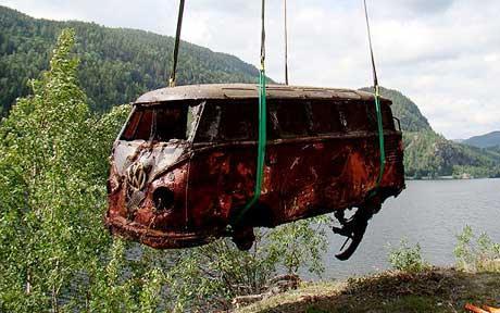 rare vw camper rescued vw bus wagon. Black Bedroom Furniture Sets. Home Design Ideas