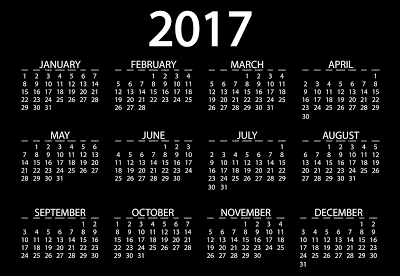 2017 calendar with indian holidays