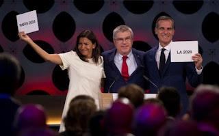 JUEGOS OLÍMPICOS - El COI acuerda los Juegos Olímpicos de 2024 para París y 2028 para Los Ángeles