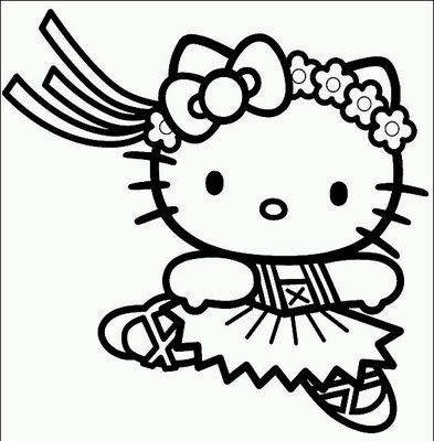 Banco De Imagenes Y Fotos Gratis Dibujos De Hello Kitty Para Pintar