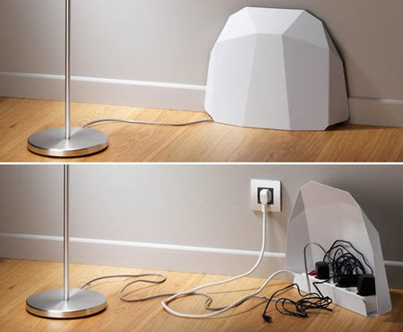 innovative power strip with protective cover