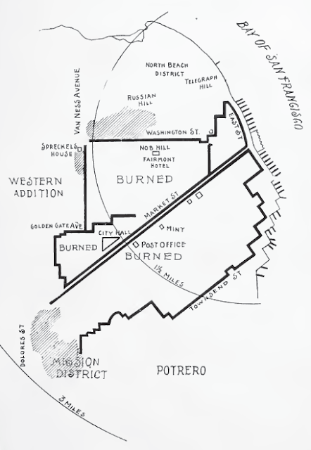 Map of burned areas in San Francisco from Aitken and Hilton
