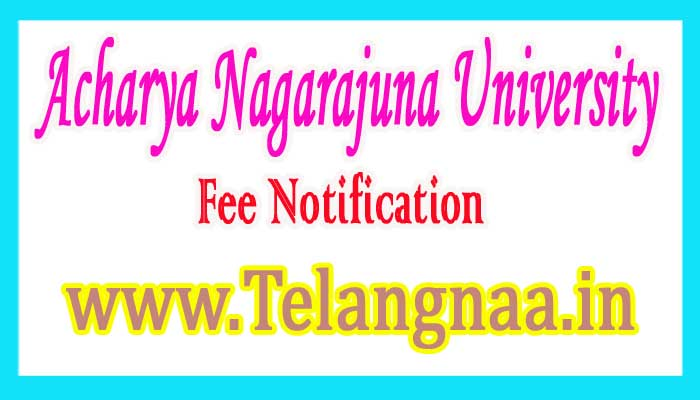 ANU M.Pharmacy 1st Sem (Regular / Supply) Fee Notification 2017