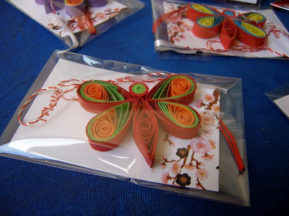 Martisoare handmade 2015 fluturi Circul Magic Quilling
