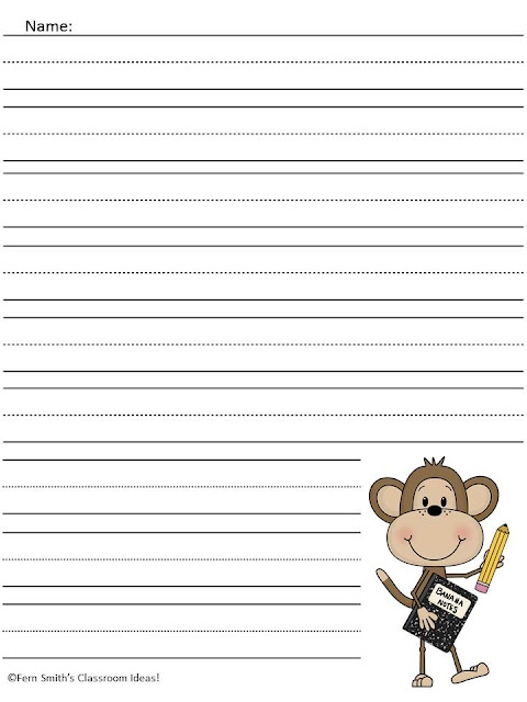 Monkey writing paper