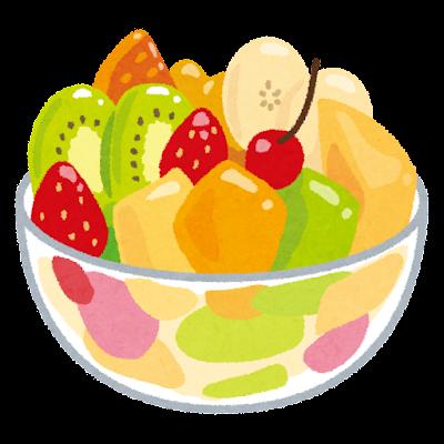 フルーツの盛り合わせのイラスト
