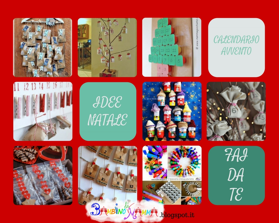 Calendario Per Bambini Fai Da Te.Bambino Di Mamma Calendario Dell Avvento Fai Da Te