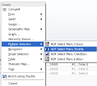 Drop ViewObject as ADF Select Many Shuttle