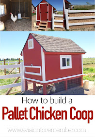 How to build a Pallet Chicken Coop by A Vision to Remember