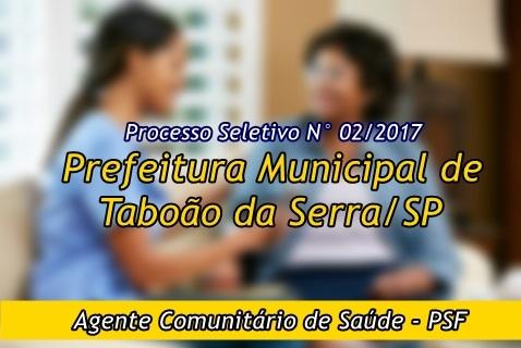 Edital Processo Seletivo Prefeitura do Município de Taboão da Serra 2017