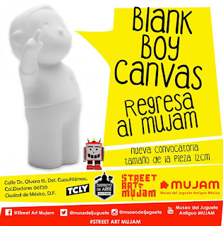 Convocatoria para intervenir un Blank boy canvas en el MUJAM