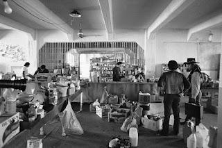 Sala de provisiones durante la ocupación india de Alcatraz