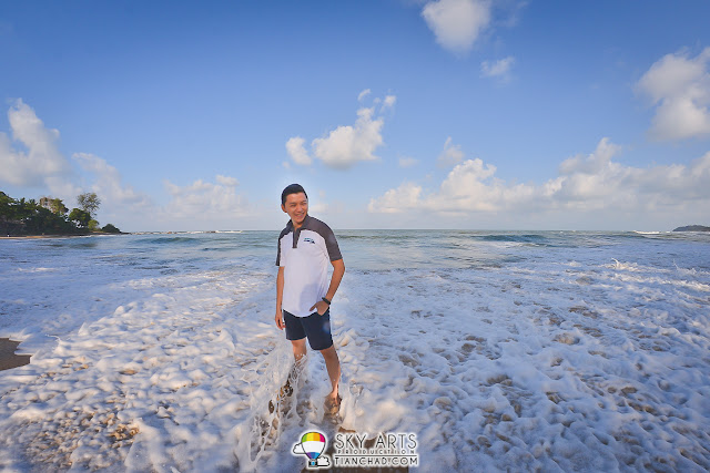 Strong waves hitting the shore and you just gotta play along with it - Tanjong Jara Resort
